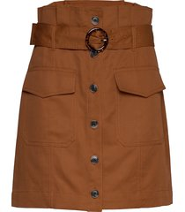 paperbag utility skirt kort kjol brun banana republic