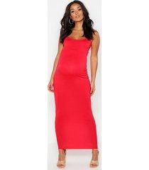 zwangerschaps kanten maxi bodycon jurk met bandjes, rood