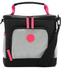bolsa térmica colcci fitness color block neon preta/rosa