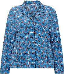 mönstrad skjorta i pyjamasstil