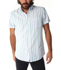 px men's vertical stripe buttondown shirt