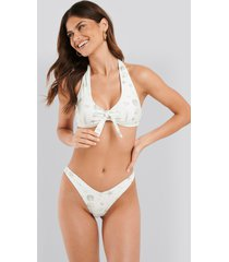 na-kd swimwear v-formad bikiniunderdel - white