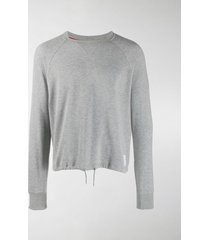 thom browne lightweight drawstring sweatshirt