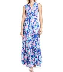 women's lilly pulitzer pearce sleeveless midi dress, size xx-small - blue