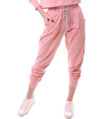 calça simony lingerie jogger  delicotton rosa - kanui