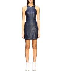 armani exchange dress armani exchange short dress in synthetic leather