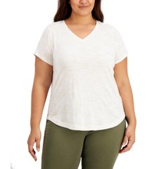 style & co plus size constellation t-shirt, created for macy's
