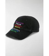 balenciaga logo-embroidered cotton hat
