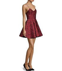anette brocade mini dress