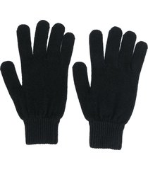 paul smith fitted knitted gloves - black