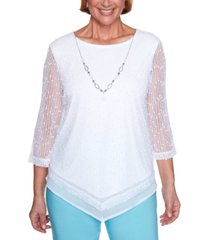 alfred dunner women's missy sea you there popcorn top