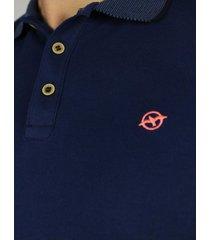 camiseta polo azul oscuro para hombre cp146