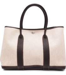 hermès 2002 pre-owned garden party tote bag - brown