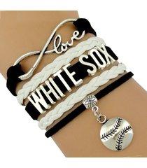white sox handmade infinity love baseball sports team bracelet