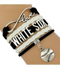 white sox handmade infinity love baseball sports team bracelet