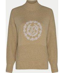 tommy hilfiger women's mix knit monogram sweater trench - xxl