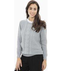 sweater gris etam elegance