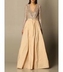 elisabetta franchi suit separate elisabetta franchi long dress with sequin body