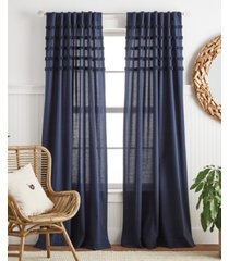 """martha stewart collection water's edge tufted 95"""" backtab panel pair"""