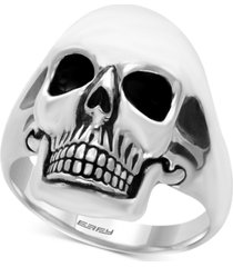 effy men's skull ring in sterling silver and black rhodium-plate