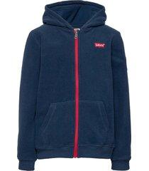 cozy zip up hoodie trui blauw levi's
