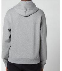 kenzo men's tiger crest classic hooded sweatshirt - dove grey - xxl