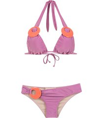 adriana degreas embellished bikini set - purple