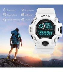 reloj digital deportivo blanco smael hombre militar moda