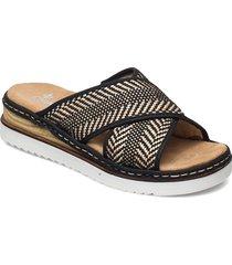 679a5-00 shoes summer shoes flat sandals svart rieker