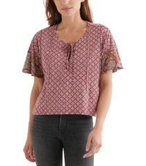 lucky brand pintucked high-low top