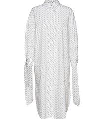 slfamaris ls long shirt dress b långärmad skjorta vit selected femme