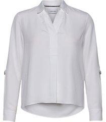 light cdc blouse blouse lange mouwen wit calvin klein
