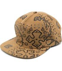 rhude all-over print baseball cap - brown