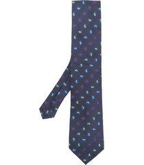etro micro paisley tie - blue