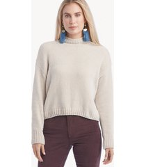 sanctuary women's chenille mock neck sweater in color: moonstone size xs from sole society