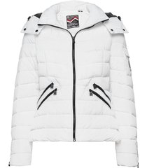 luxe quilt padded jacket fodrad jacka vit superdry