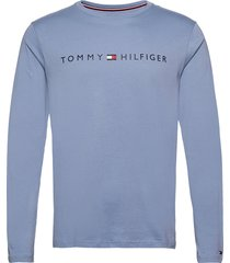 cn ls tee logo t-shirts long-sleeved blå tommy hilfiger