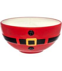 godinger santa belt medium serving bowl