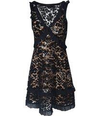 michael kors ruffle lace sleeveless dress