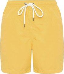 short masculino praia liso - amarelo