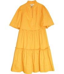clara tiered dress in maize