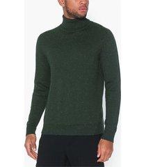 premium by jack & jones jpraiden knit roll neck tröjor mörk grön