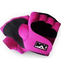 luva de academia max force rosa
