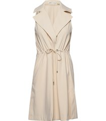 kaydeiw waistcoat trenchcoat lange jas beige inwear