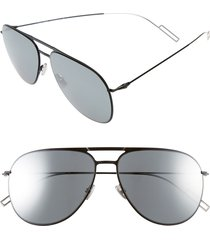 men's dior homme 59mm aviator sunglasses - shiny black