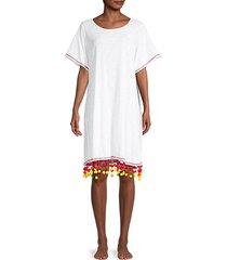 pom-pom chandelier coverup t-shirt dress