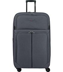 maleta de viaje mediana  gris speed - explora
