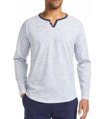 tallia men's slim fit texture print henley t-shirt and a free face mask