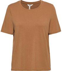 objannie s/s t-shirt noos t-shirts & tops short-sleeved brun object