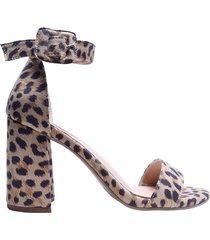 sandalia tacon onani mercedes campuzano de mujer-estampado leopardo
